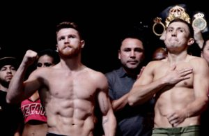 Golovkin and Canelo make weight: The king of the Middleweights will be defined.