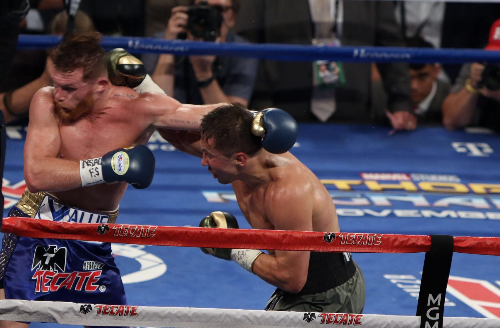 Great fight between Golovkin and Canelo