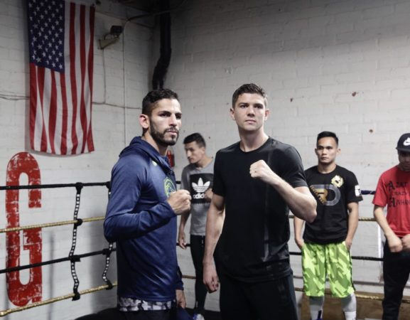 Linares and Campbell held media workout.