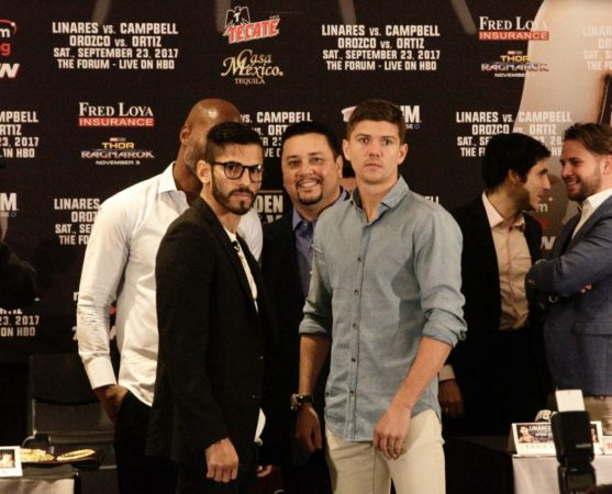 Linares and Campbell held final press conference