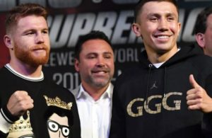 Golovkin and Canelo met at press conference.