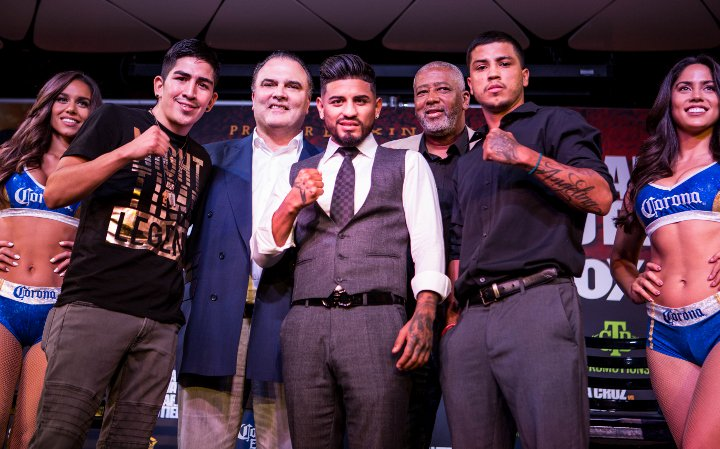 Mares and Santa Cruz held press conference in Los Angeles.
