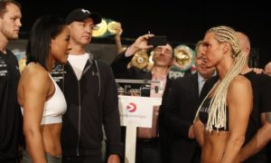 Cecelia Braekhus and Lauren make weight in Norway