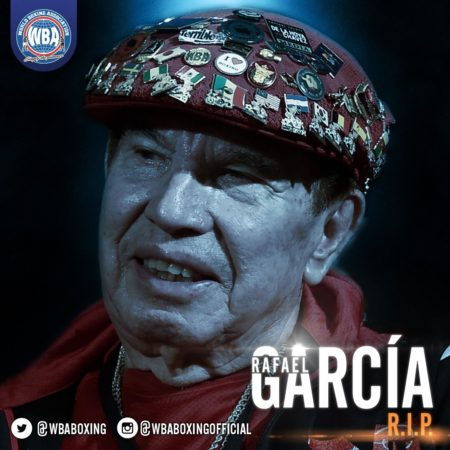 The WBA regrets the death of Rafael García