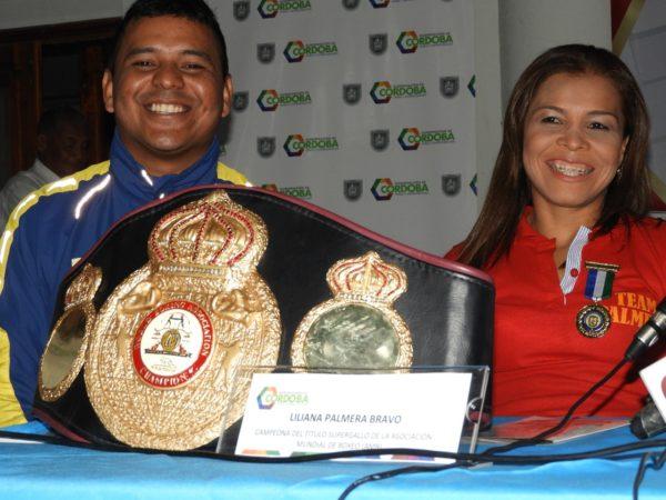 Liliana Palmera was awarded the Medal for Sports Merit of Córdoba, Colombia