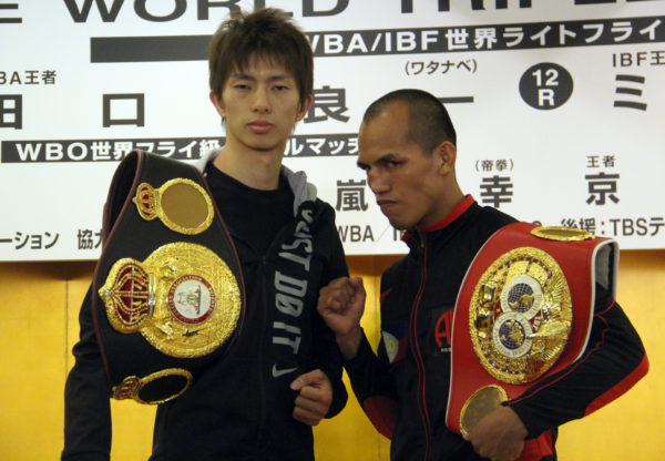 Taguchi and Melindo make weight for their year-end fight