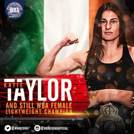 Taylor retains WBA Female Lightweight Title.