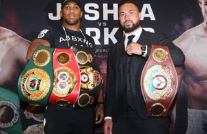 Joshua-Parker fight presented at press conference.  Photo: Matchroom Boxing.