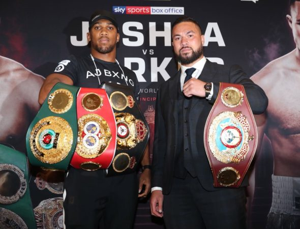 Joshua-Parker fight presented at press conference