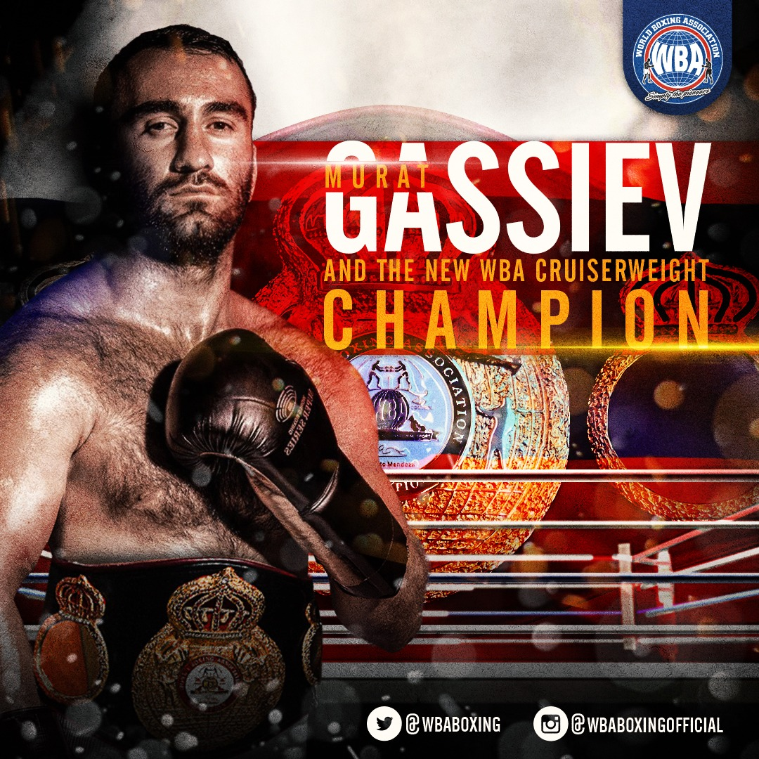 Gassiev knocked out Dorticos and is the new WBA Cruiserweight Champion.