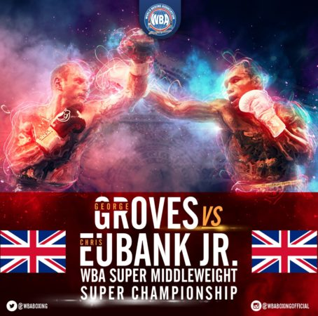 Groves defends his WBA belt against Eubank Jr. on Saturday.