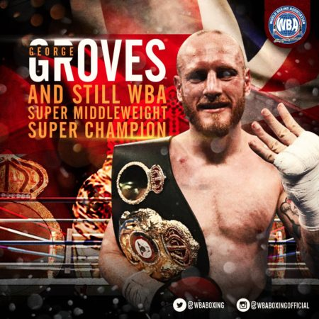 Groves retained his WBA Super Championship against Eubank.