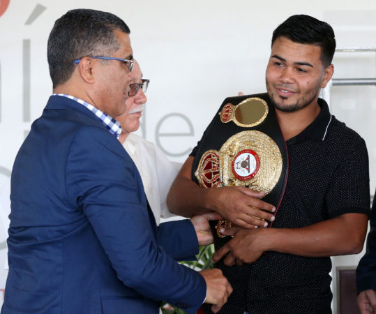 Jesús Rojas received his WBA champion belt