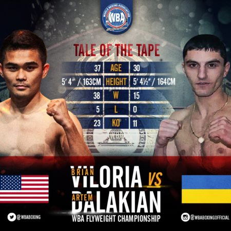 Viloria and Dalakian will fight for the WBA Flyweight title in California.