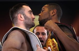 Dorticos and Gassiev make weight for their world title fight in Russia.
