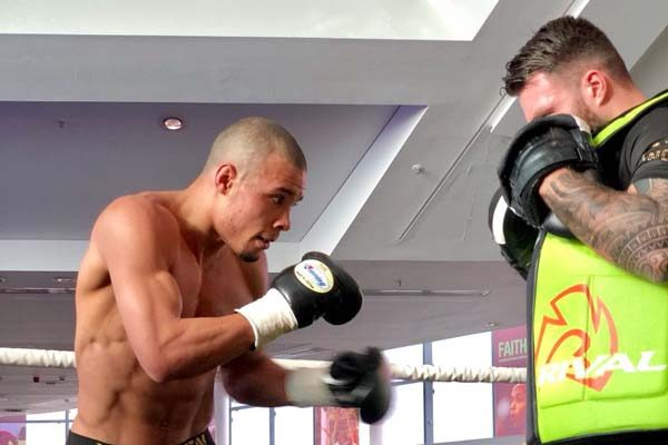 Groves and Eubank held public workout.