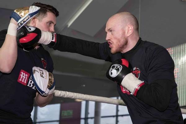 Groves and Eubank held public workout