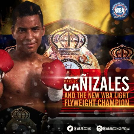 Cañizales dominated Konishi and is the new WBA Champion