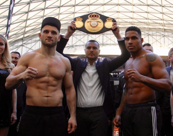 Merhy and Goulamirian make weight for their fight in Marseille