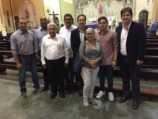 A mass was held in honor of Gilberto Mendoza in Panama
