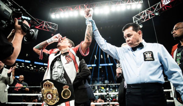 Davis Wins WBA Title With TKO3 Over Cuellar. Photo: Showtime