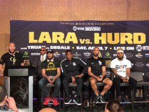 Lara y Hurd hablaron con la prensa en Las Vegas