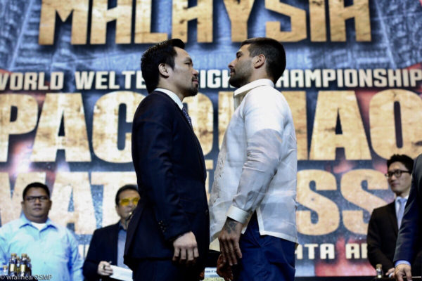 Matthysse and Pacquiao promise to give a war in Malaysia. Photo: Team Pacquiao.