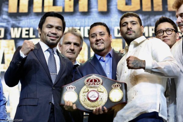 Matthysse and Pacquiao Hold Manila Press Conference. Photo: Team Pacquiao.