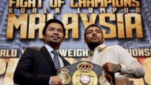 Matthysse y Pacquiao presentaron su combate en Manila
