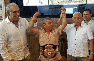 "Gustavo ""Guty"" Espadas Receives WBA Belt."