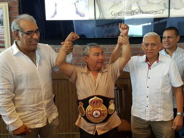 "Gustavo ""Guty"" Espadas Receives WBA Belt"