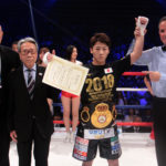 Inoue Stops McDonnell to Become Bantam Champ. Photo: Sumio Yamada.