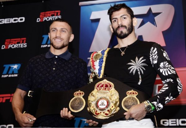 Lomachenko and Linares Hold Tense Final Press Conference