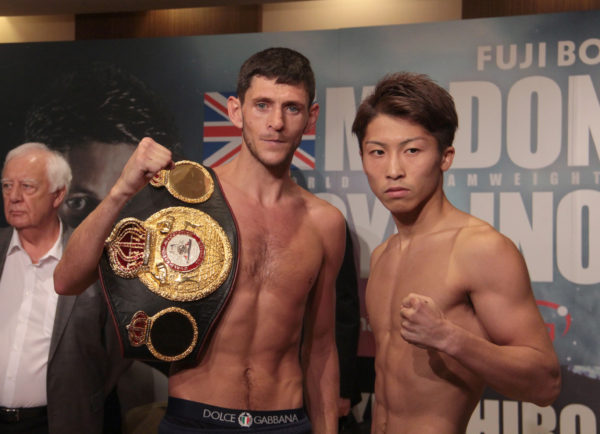 McDonnell and Inoue Make Weight. Photo: Sumio Yamada.