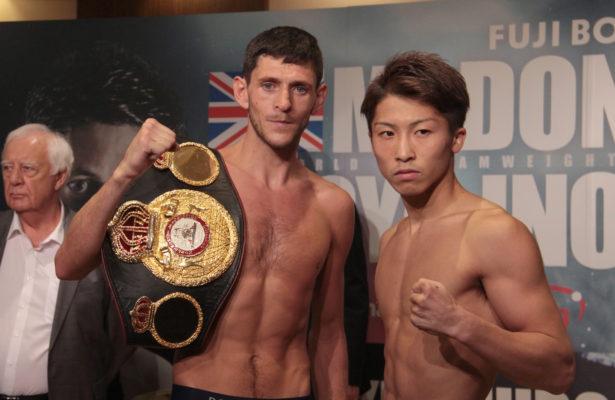 McDonnell and Inoue Make Weight. Photo: Sumio Yamada.