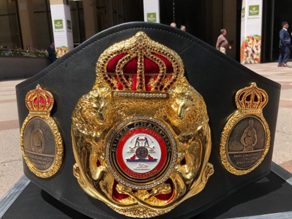 Lomachenko and Linares Special Super Belt Made