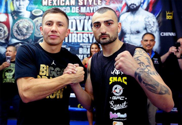 Golovkin and Martirosyan Ready For Battle