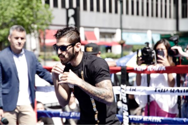 Lomachenko and Linares Hold Open Workout