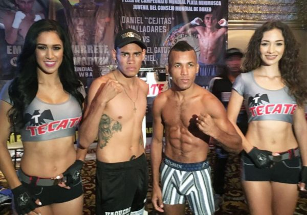 Navarrete and Sanmartin Weigh-in For WBA Elimination