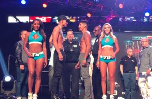 Frank Rojas and José Benavidez in WBA Welterweight Eliminator Bout.