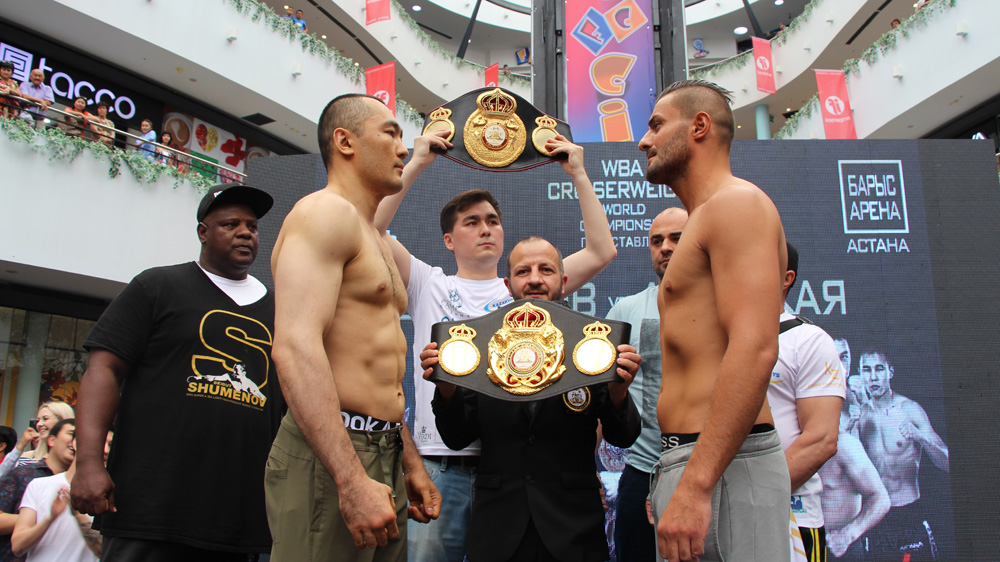 Beibut Shumenov vs Hizni Altunkaya weigh-in