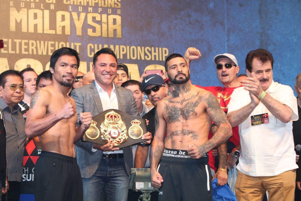 Matthysse and Pacquiao ready and make weight in Kuala Lumpur