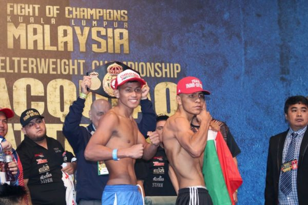 Ortega and Tepora make weight in Malaysia