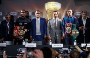 Gassiev y Usyk frente a frente en rueda de prensa.
