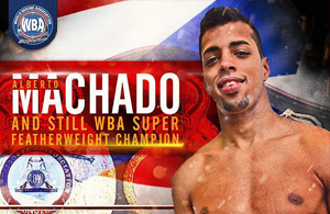 Alberto Machado WBA Super Featherweight World Champion