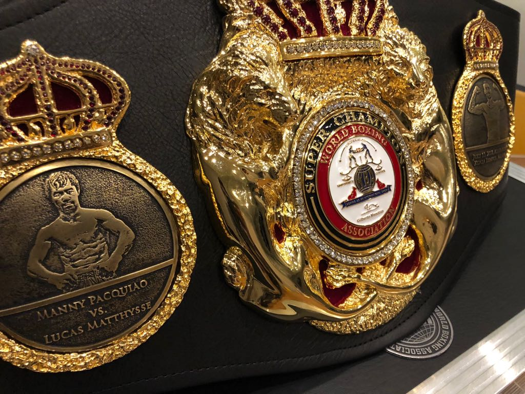 Paccquiao and Matthysse Special Super Belt Made
