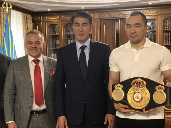 Gilberto Jesus Mendoza culminates a successful tour in Astana