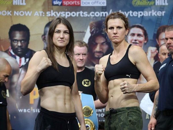 Katie Taylor and Connor Make Weight