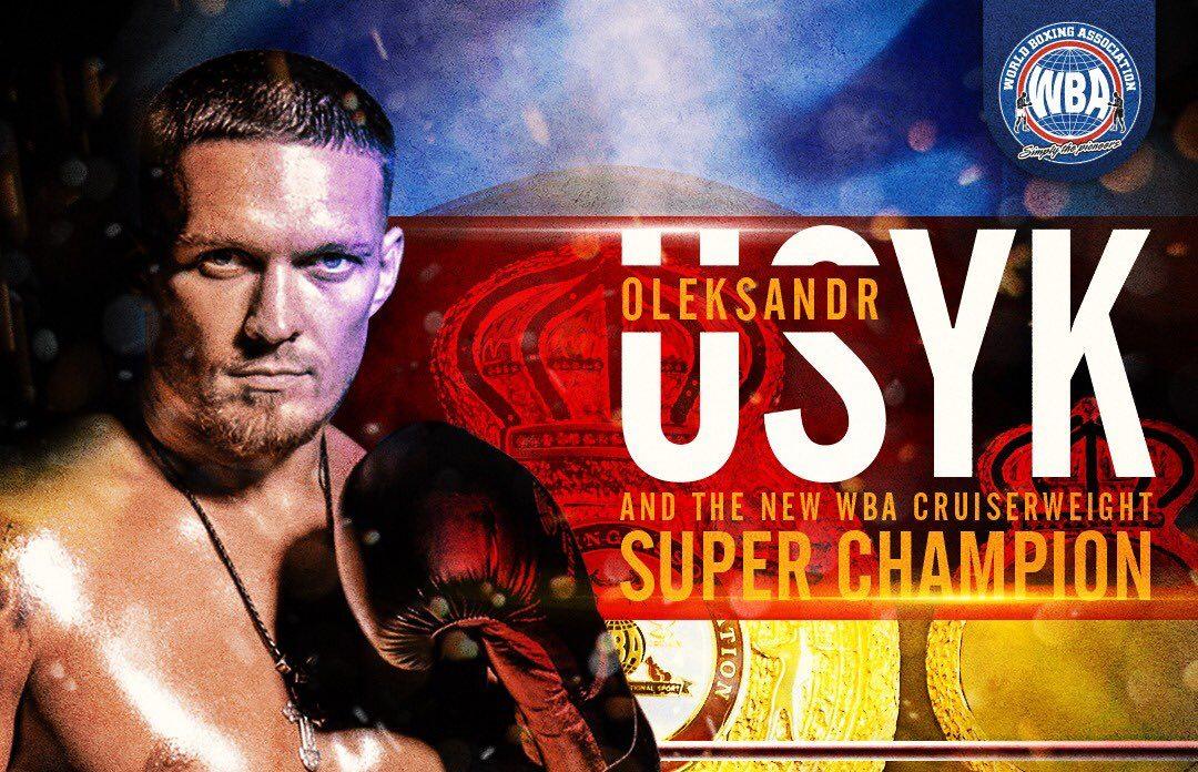 Oleksandr Usyk WBA Cruiserweight Super Champion