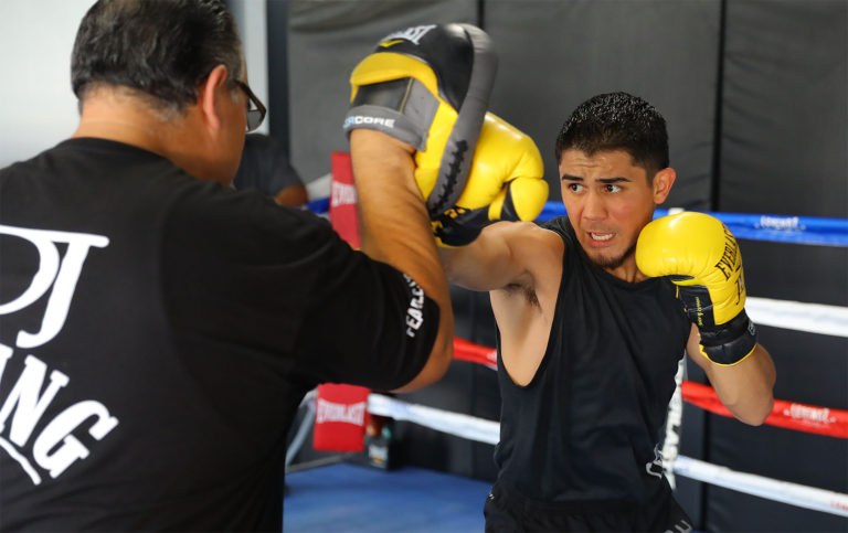 Prepared 'JoJo' Diaz to play with fire against Rojas. photo: Tom Hogan-Hogan Photos / Golden Boy Promotions.